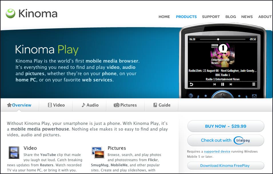 Kinoma screenshot